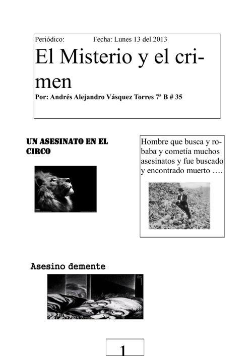 El misterio y crimen