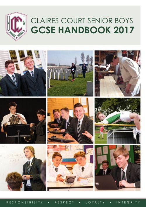 Claires Court Senior Boys GCSE Handbook 2017