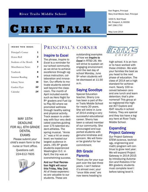 May-June 2014 Chieftalk