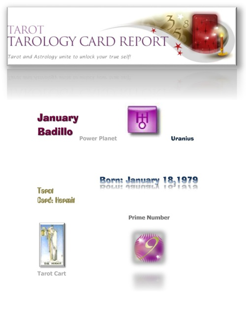 January's Tarotology