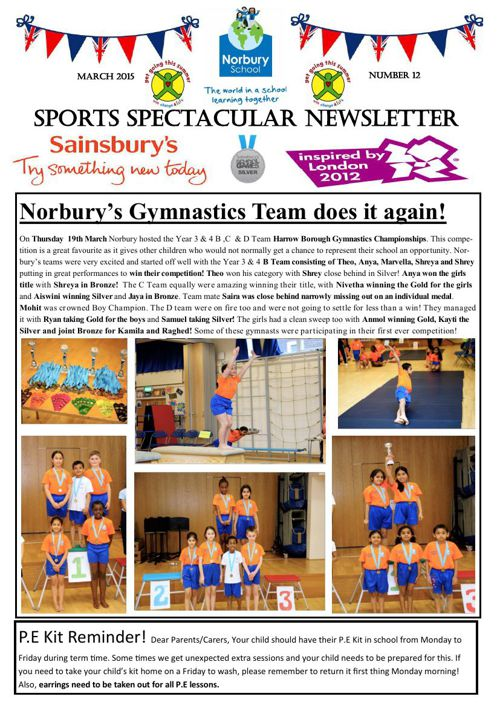 Sports Newsletter Number 12