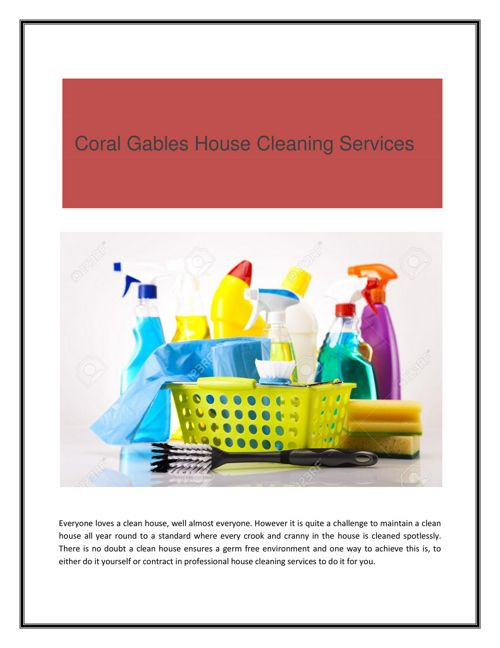 Coral Gables House Cleaning