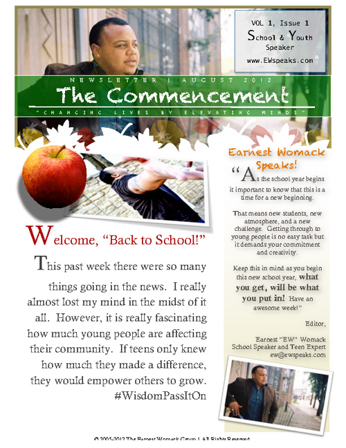 Newsletter | The Commencement | Summer 2012