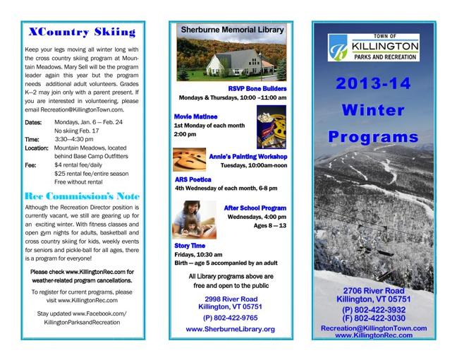 2013-14 Winter Programs Brochure