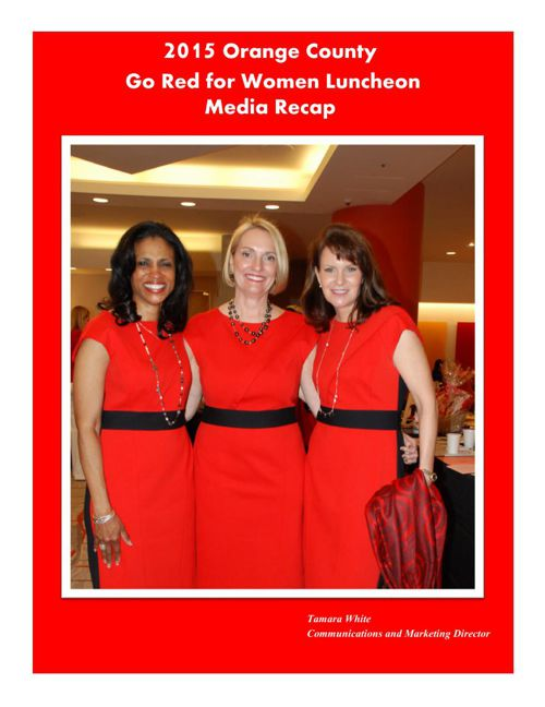 2015 Orange County Go Red for Women Luncheon Media Recap