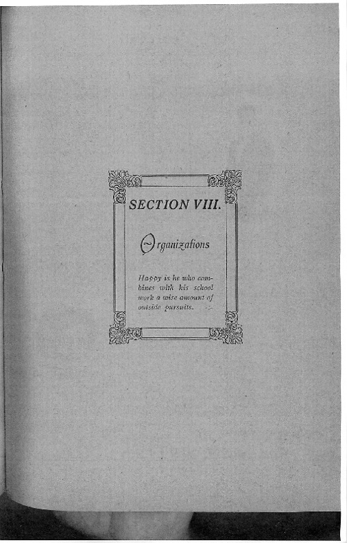 OHS 1916 Yearbook - Organizations