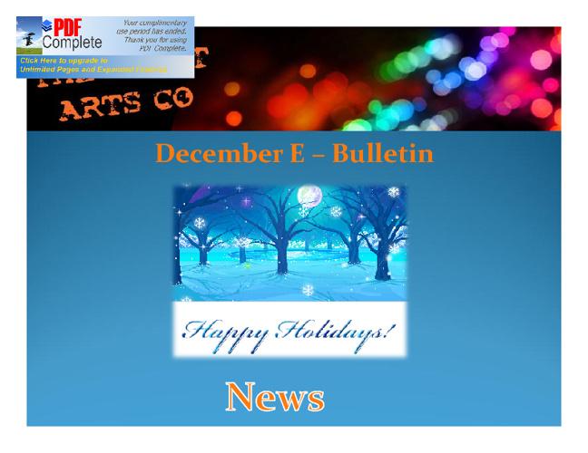December Bulletin