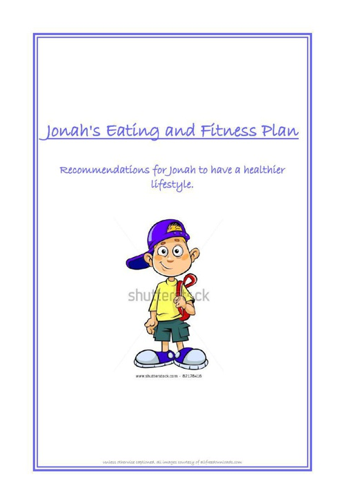 Jonah's Healthy Eating and Fitness Plan