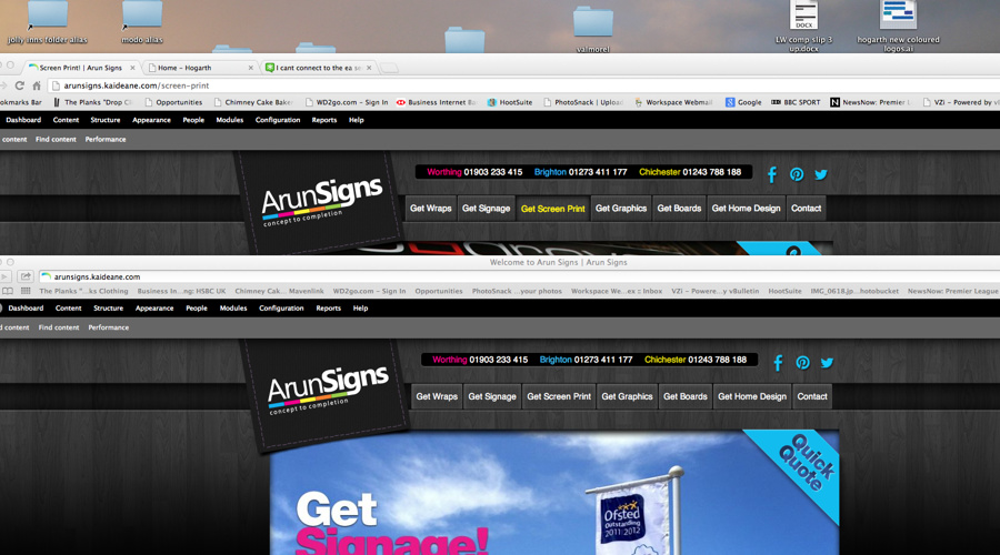 arun screenshot menu