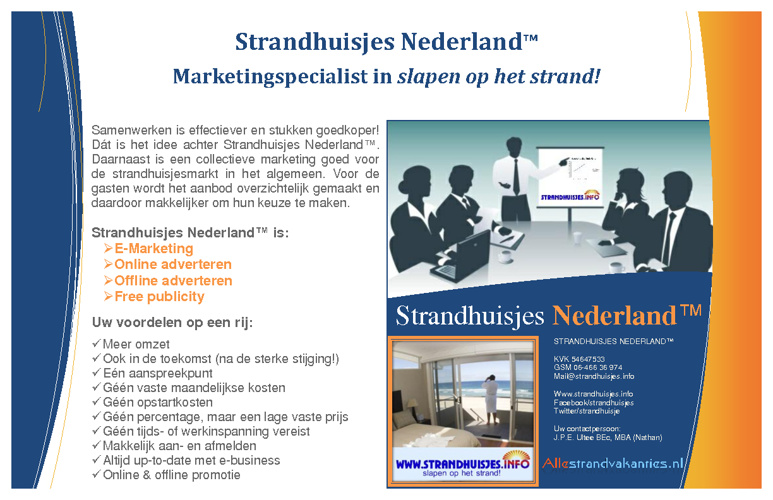 Hand-out | Strandhuisjes Nederland™