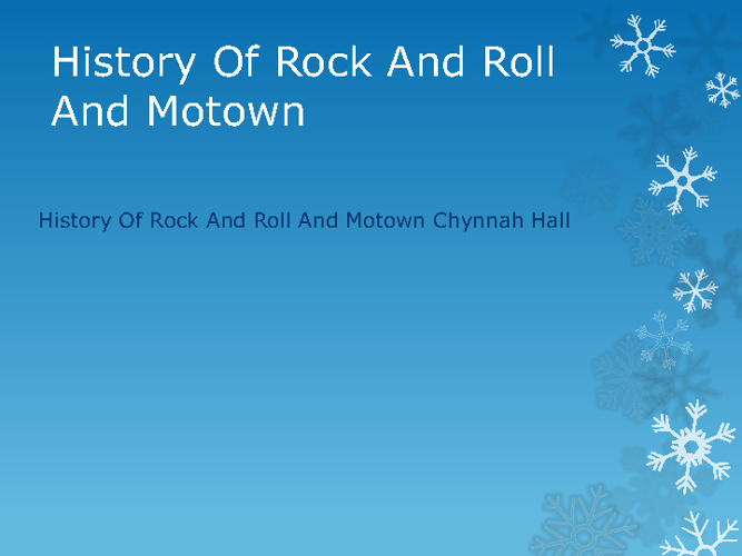New FlipHistory Of Rock And Roll And Motown