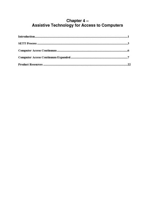 AT Computer Access