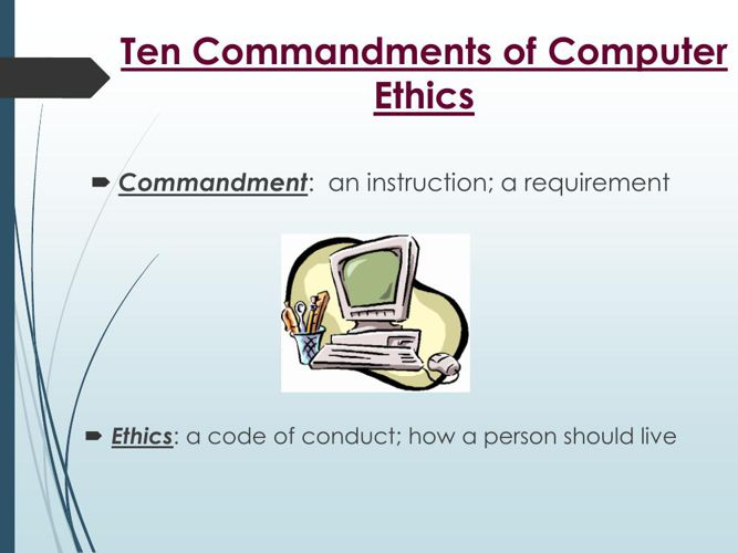 10 commandments in computer ethics
