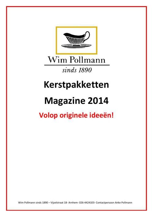 Kerstpakketten Wim Pollmann 2014