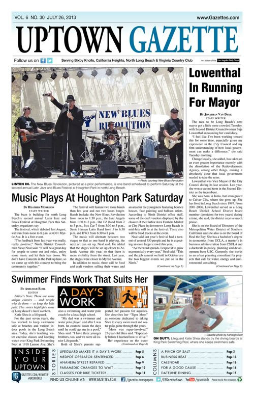 Uptown Gazette  |  July 26, 2013