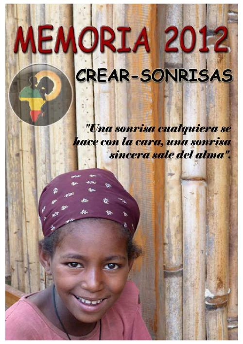 Memoria ONG CREAR-SONRISAS 2012