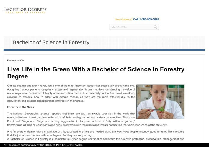 Understand the ecosystems with bachelor science forestry qualifi