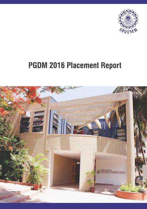 PGDM Placement Report 2016
