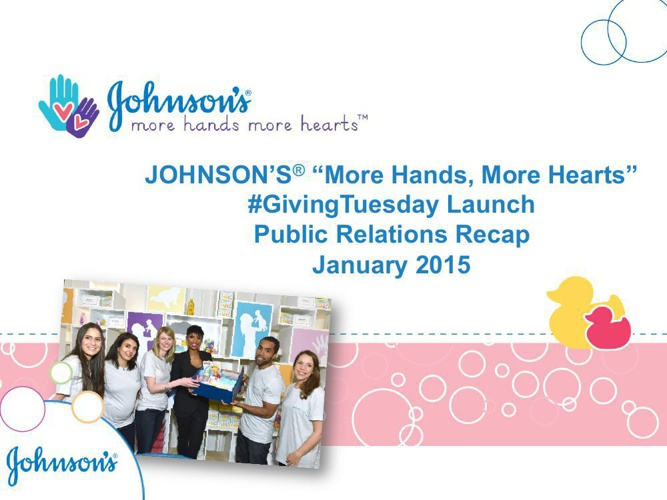 "JOHNSON'S ""More Hands, More Hearts"" #GivingTuesday Launch Public"