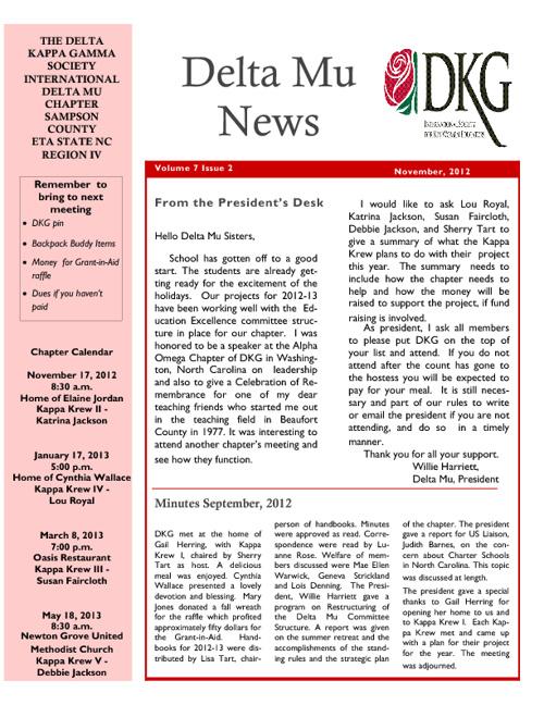 November News 2012