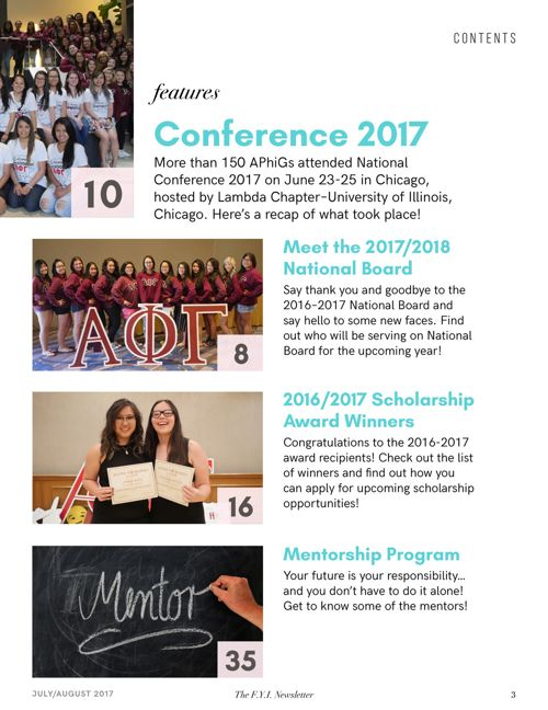 The F.Y.I. Newsletter - July/August 2017