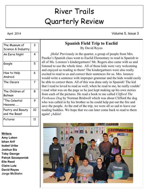 RTMS Quarterly Review - April 2014