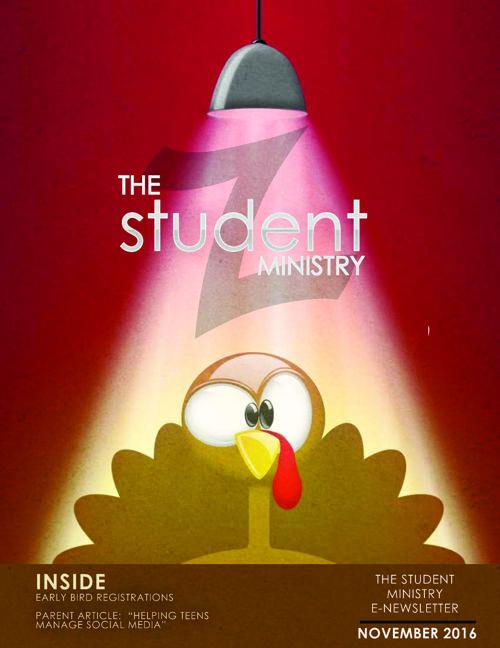 Student Ministry Parent Newsletter Nov 2016