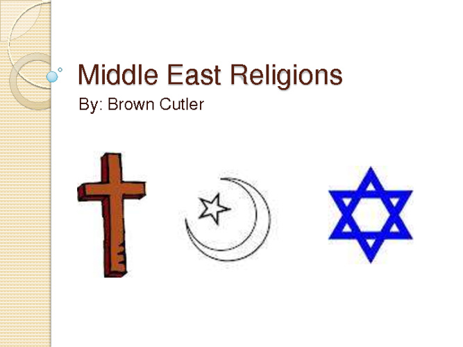 Middle East Compare/Contrast-Brown Cutler Period 8