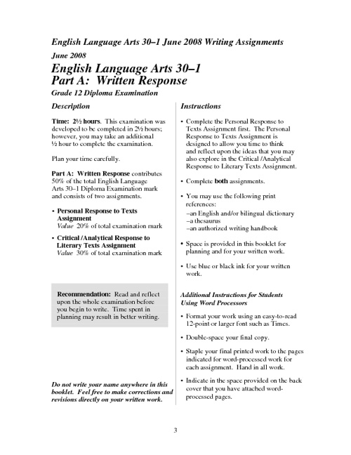 English 30-1 Diploma Prep Package