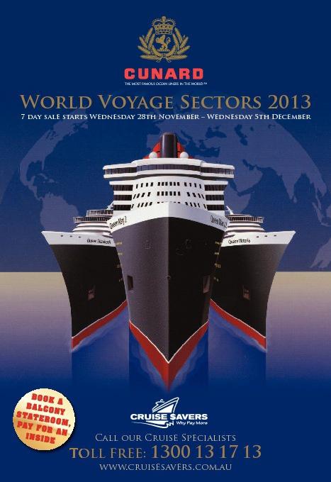Cunard 7 Day Sale!