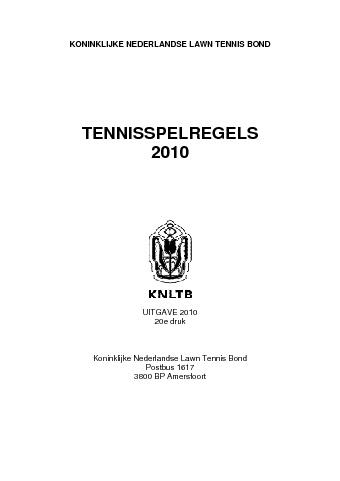 Tennisregels2010