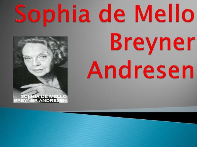 Biografia - Sophia de Mello Breyner Andresen