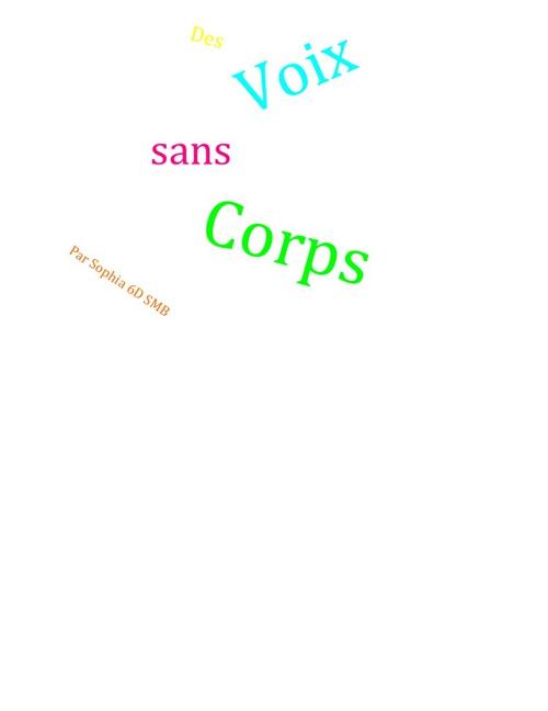 Des Voix Sans Corps