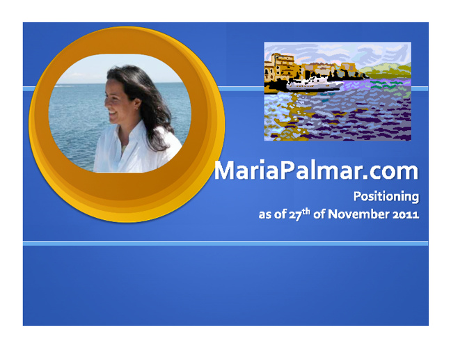 MariaPalmar.com Positioning as of 27th of November