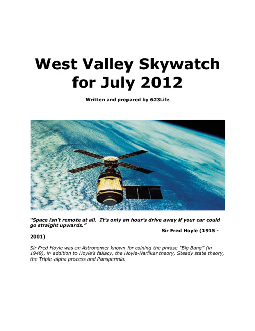 West Valley Skywatch July 2012