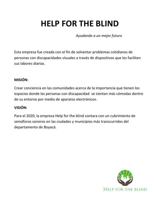 Help for the blind