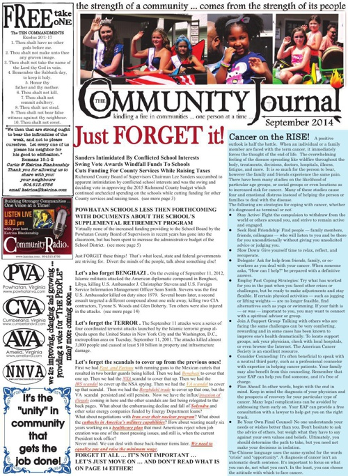 The Community Journal . Central Virginia Edition - September 201