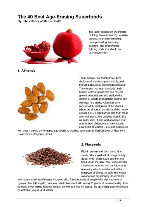 The Super Foods