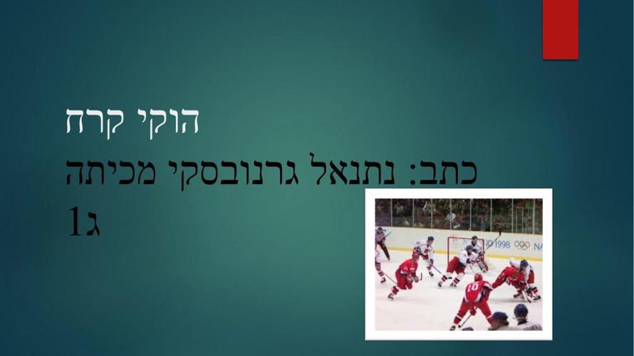 הוקי קרח - נתנאל ג1