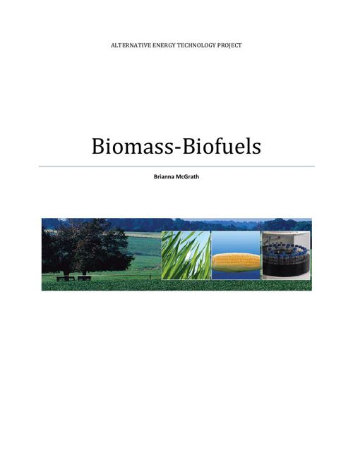 Biomass-Ethanol Biofuel