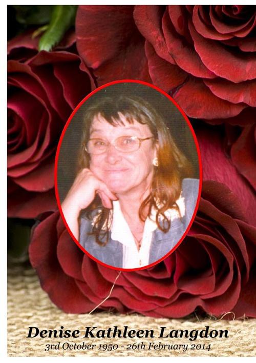 4 Order of Service for Denise Kathleen Langdon