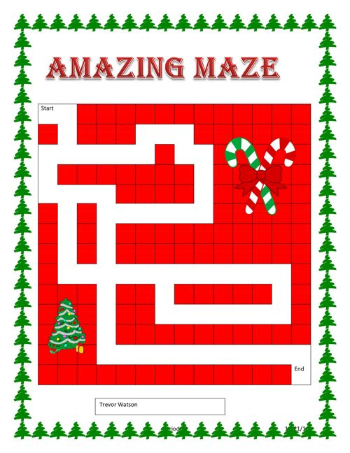 Christmas Project Maze