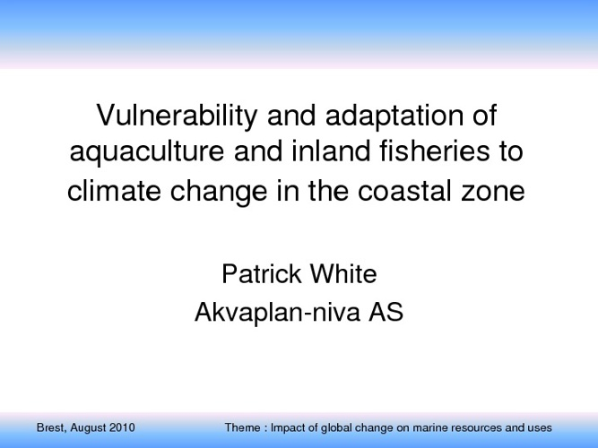 Climate change and aquaculture