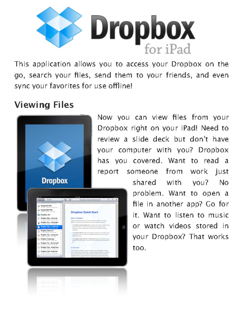 Drop Box Application Software