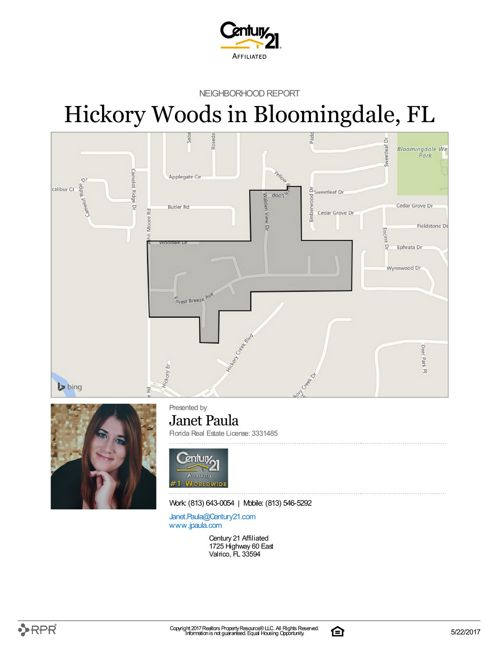 Neighborhood Report for Hickory Woods