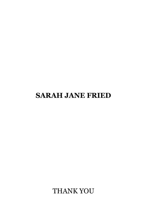 Sarah Freid Sample 1