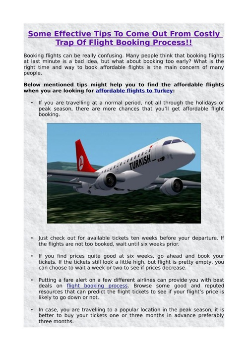 Some Effective Tips To Come Out From Costly Trap Of Flight Booki