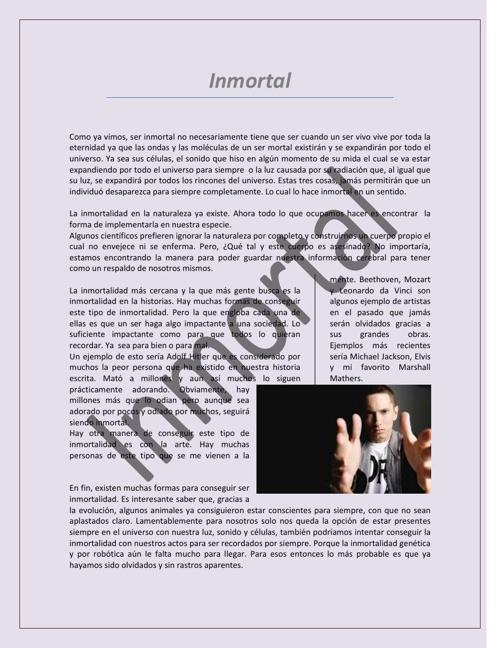 Inmortal- Conclusión1
