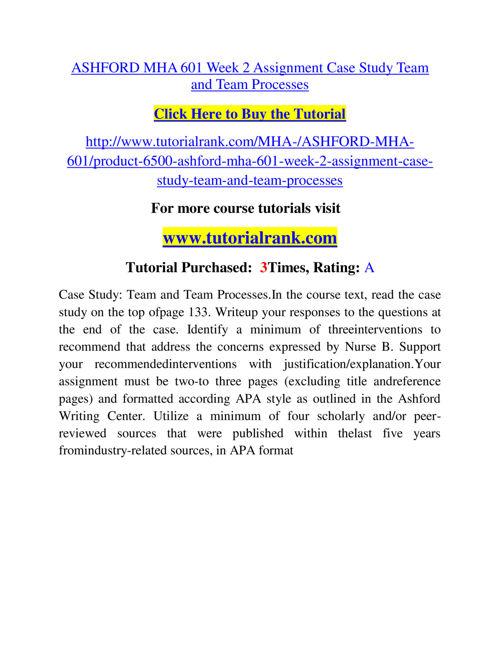 MHA 601 Slingshot Academy / Tutorialrank.Com