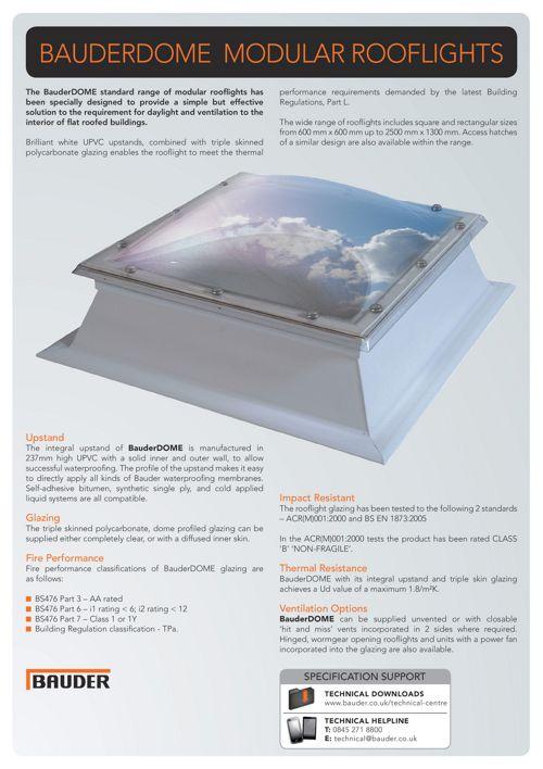 BauderDOME Rooflights - Bauder